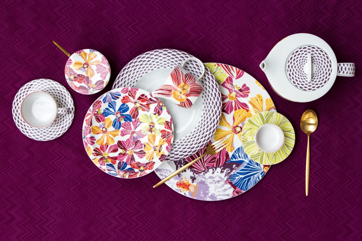 Missoni Home Flowers tableware & Dress your Dining Table for Every Occasion