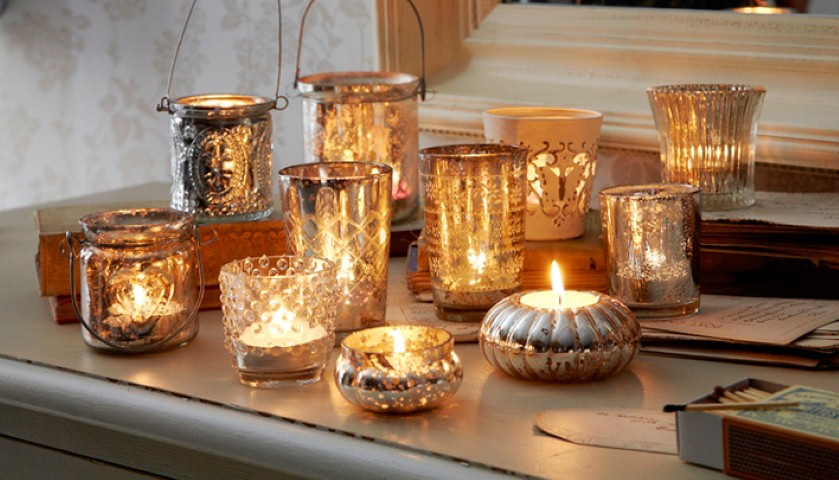Use tealights and candle holders