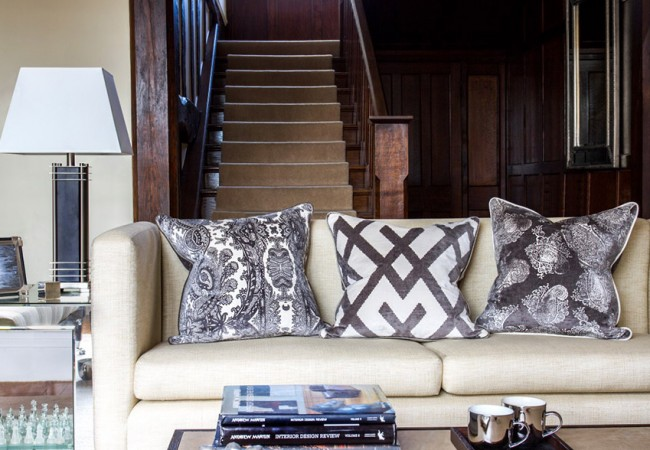 New Andrew Martin Cushions Designed Exclusively for Amara