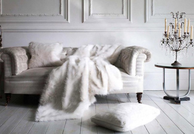 Luxury Faux Fur Home Accessories from Helen Moore
