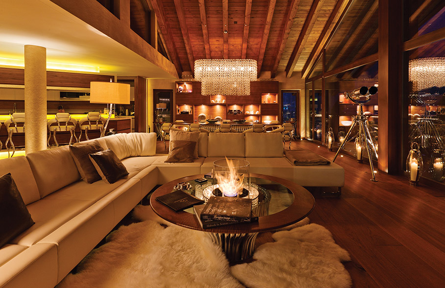 Chalet chic interior style the luxpad for Ski design hotel
