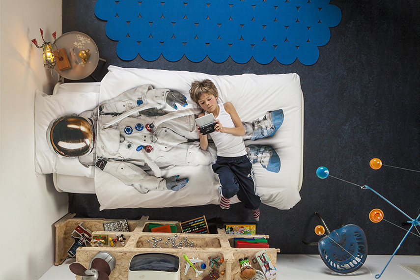 Astronaut bed linen from Snurk, Image courtesy of Snurk