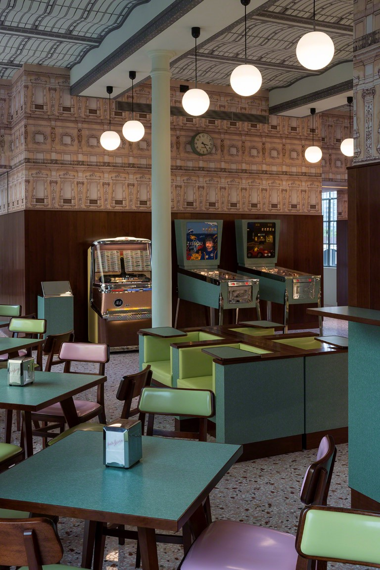 Bar Luce created by Wes Anderson - Image courtesy of Fondazione Prada