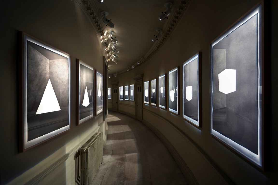 James Turrell First Light, 1989 – 90 20 etchings in aquatint Installation view © James Turrell. Photo: Peter Huggins