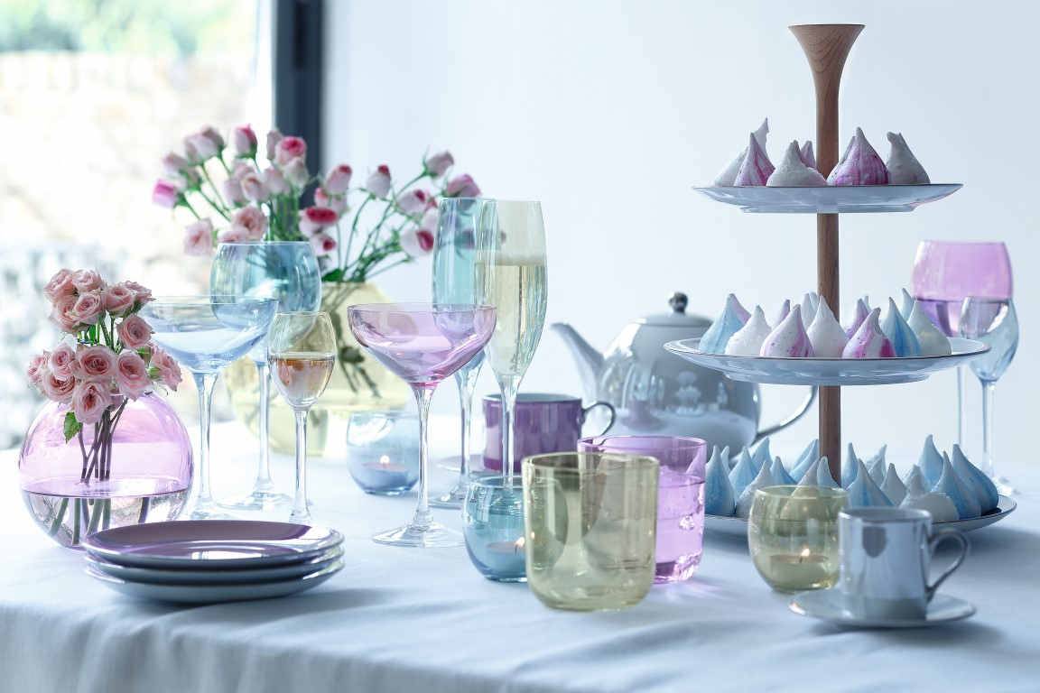 LSA Polka Tableware - Image courtesy of LSA Tableware & Pretty Pastels Interior Trend - The LuxPad - The Latest Luxury Home ...