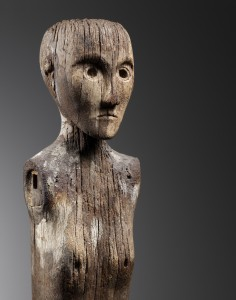 Collections - Late Classic Dayak Ancestral Post, Borneo, 1474 - 1635, Wood, 86 cm in height, Courtesy of Bernard De Grunne