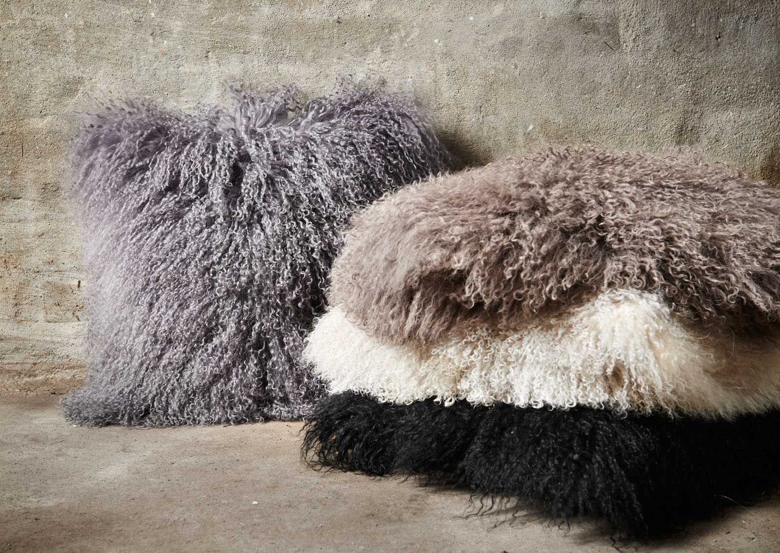 Tibetan Sheepskin Cushions - Image courtesy of Natures Collection