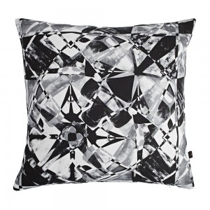 Amy Sia Fractured Charcoal Cushion 79494