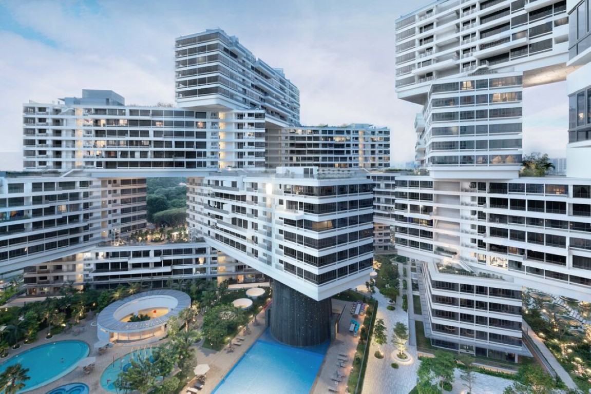 The Interlace by OMA/Buro Ole Scheeren - winner of the World Building of the Year Award. Image courtesy of World Architecture Festival
