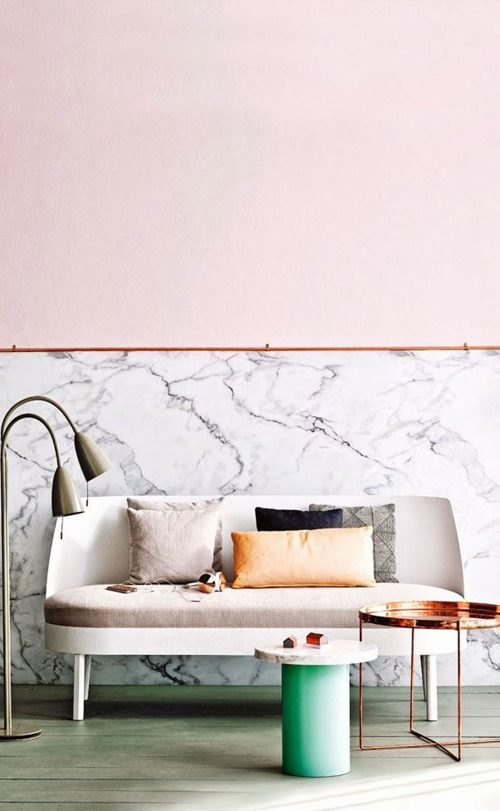 Colour - dusty pink marble