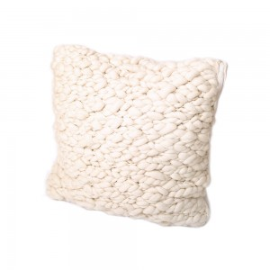 Pure Lana Clouds Merino Cushion Natural Ivory 60x60cm