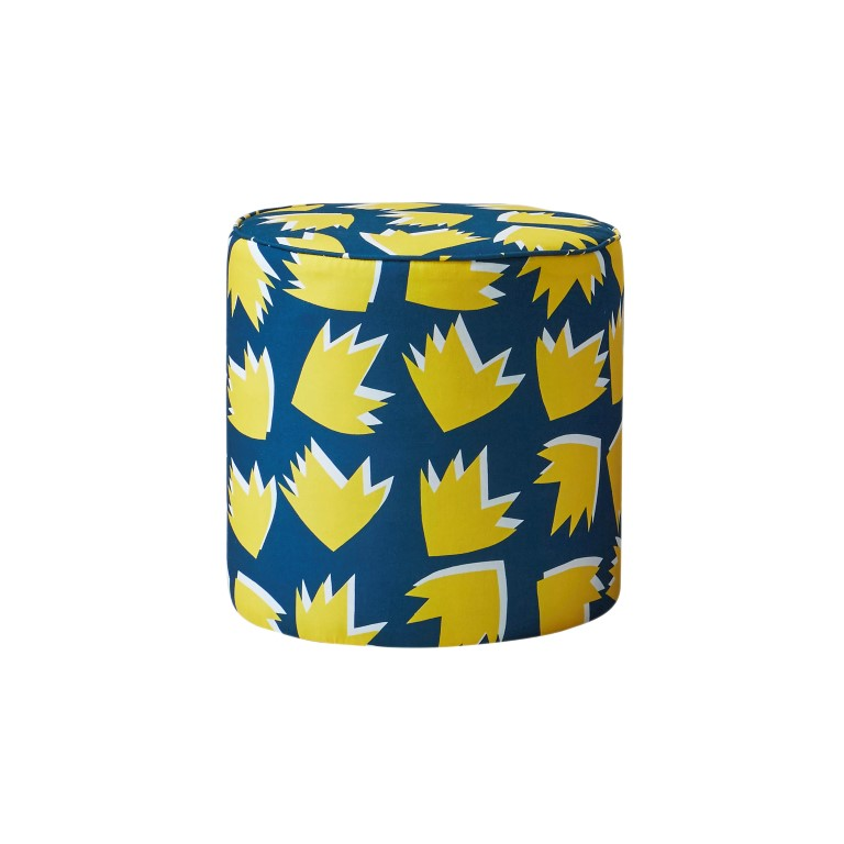 Spring Toddstool - 45 x 45 cm - Teal and Yellow 85761