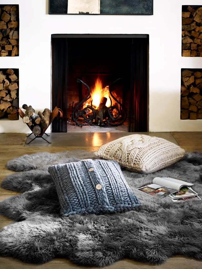 UGG F15-Oversized Knit Pillow-GREY-NAT-Sheepskin Area Rug-Octo-GREY (Medium)
