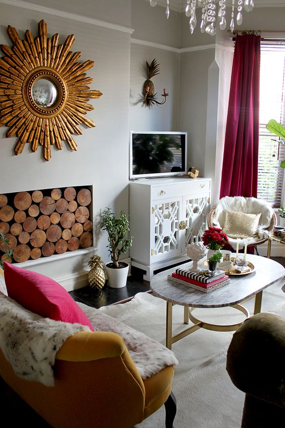 Eclectic Living Space From Swoonworthy | Discover More Interior Design  Styles On The LuxPad