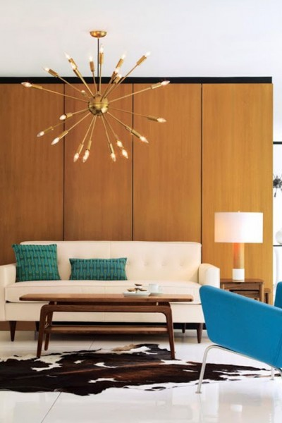 Mid-Century modern living | Discover more interior design styles on The LuxPad