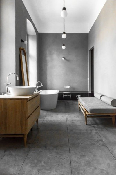Minimalist and pared back bathroom | Discover more interior design styles on The LuxPad