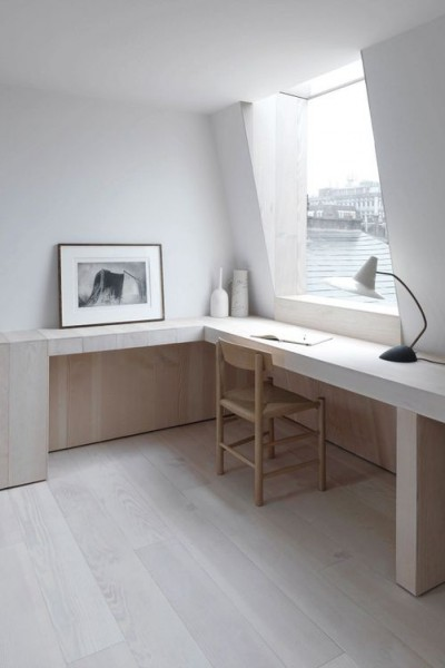 Minimalist office space | Discover more interior design styles on The LuxPad
