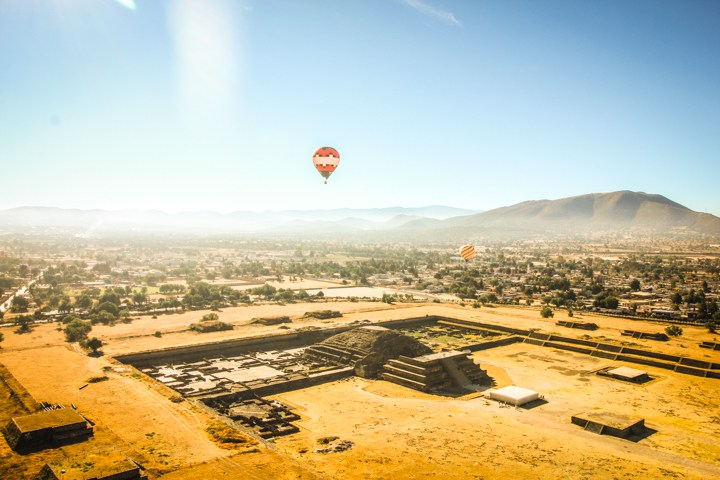 Ashley Abroad - Hot Air Balloon over Teotihuacan