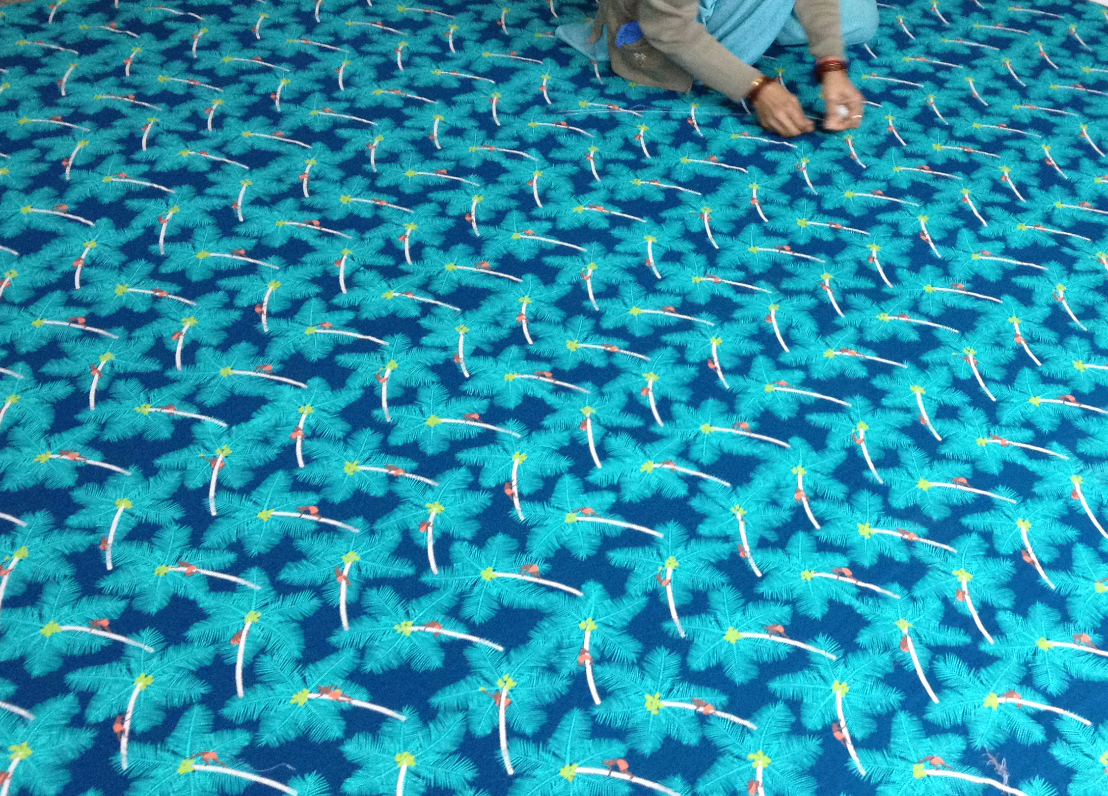 Alleppey Collection Coconut Palm Pickers Quilt Making - Image courtesy of Safomasi