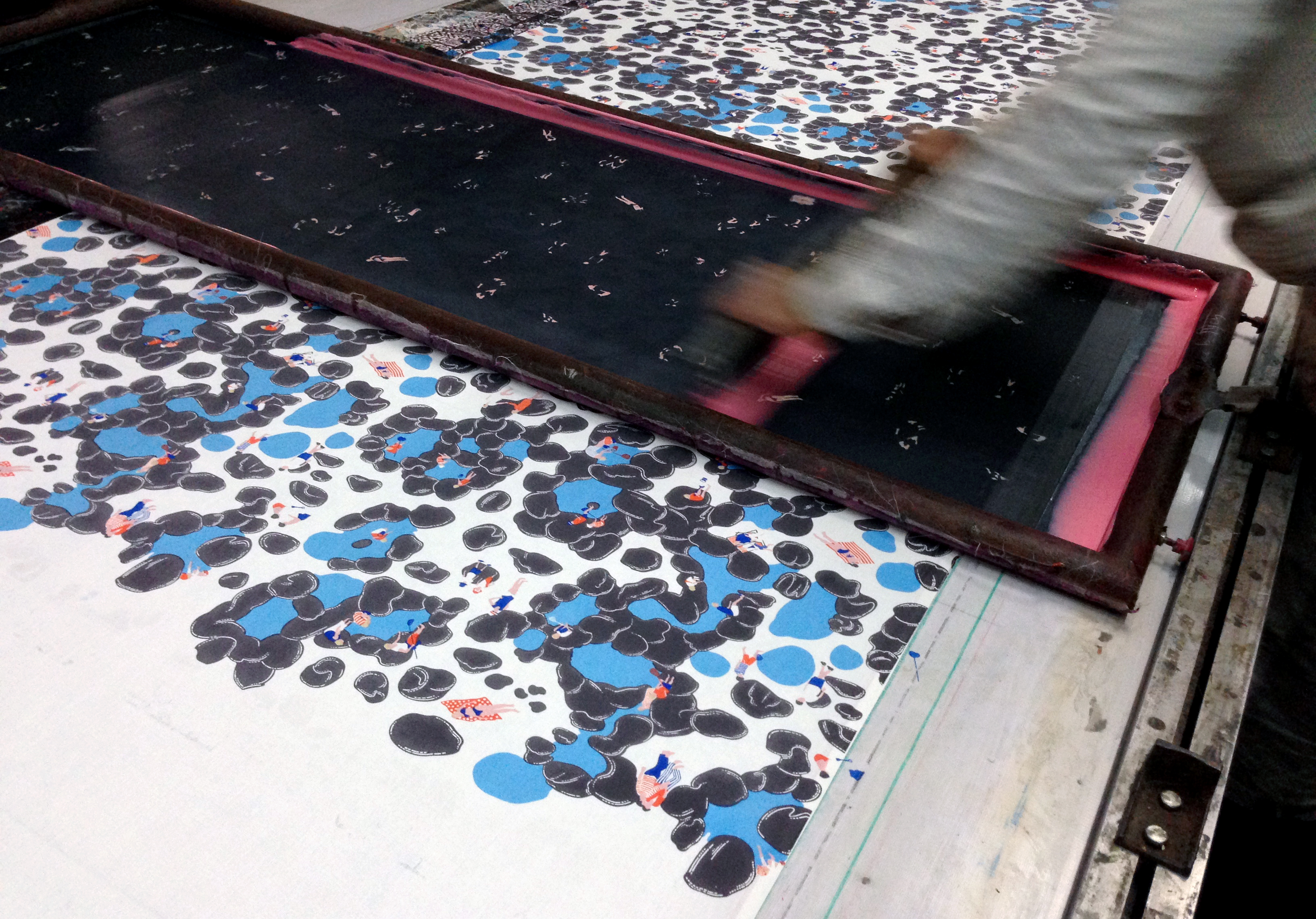 Salcombe Collection Rockpool Printing - Image courtesy of Safomasi