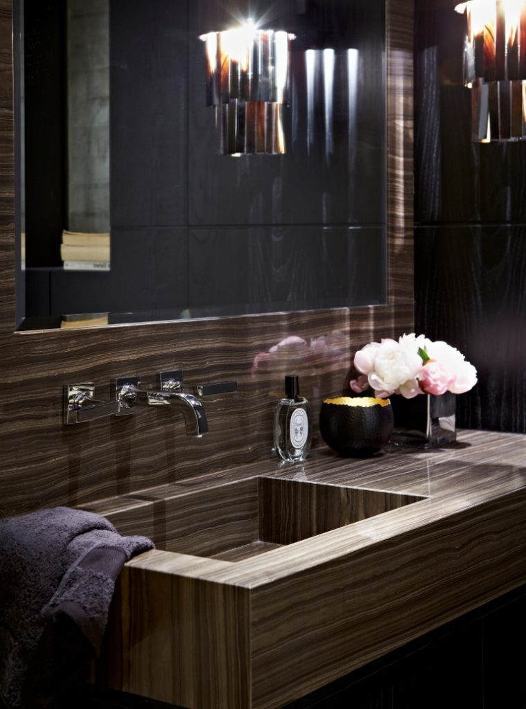 Turning the negative into a stylish feature trevor square for Bathroom designs square room