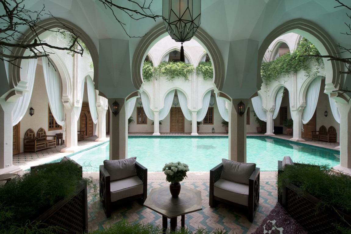 Salon patio - Image courtesy of Almaha Marrakech