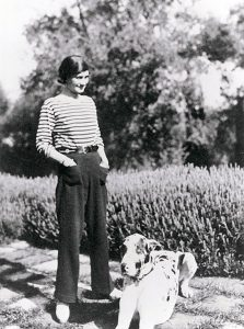 Coco Chanel with Gigot image courtesy of Chanel