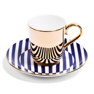 Richard Brendon Patternity Gold Coffee Cup