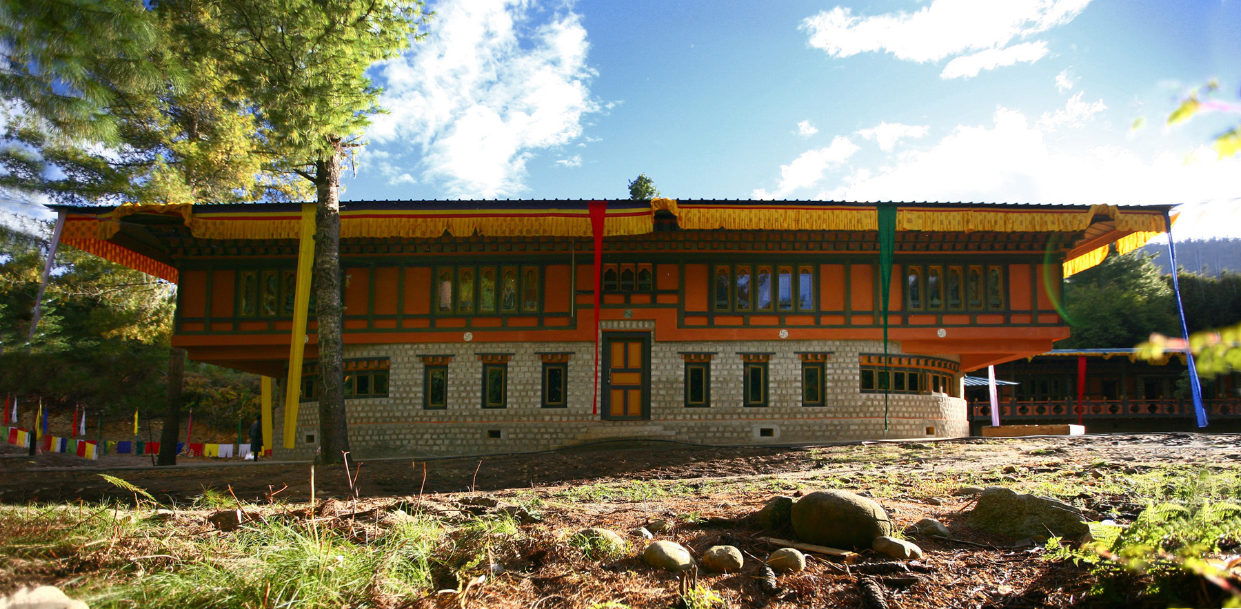 Bhutan Happiness Centre by 1+1-2 Architects - Image courtesy of WAF