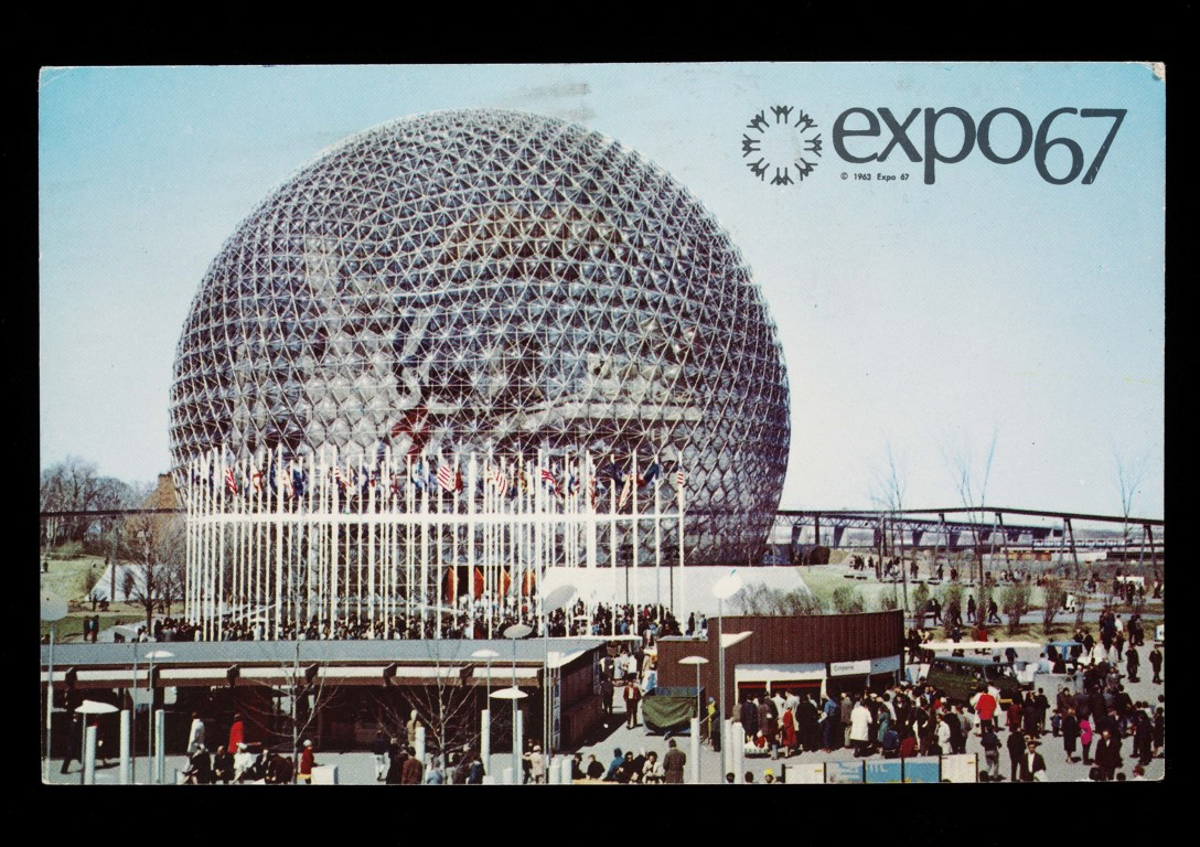 Postcard from the Montreal World Expo 1967 (c) Victoria and Albert Museum, London