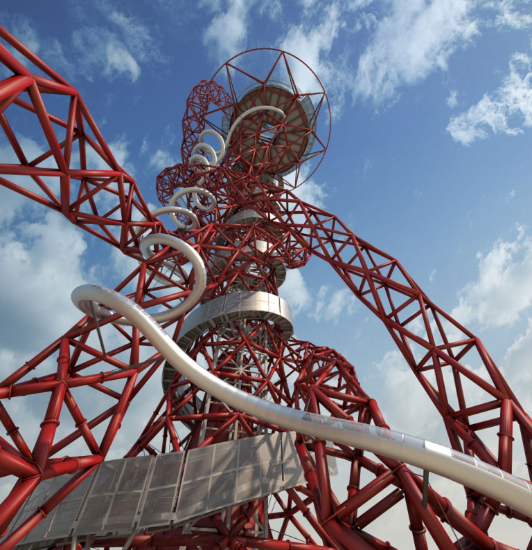 Anish Kapoor's Orbit Tower - Image courtesy of ArcelorMittal