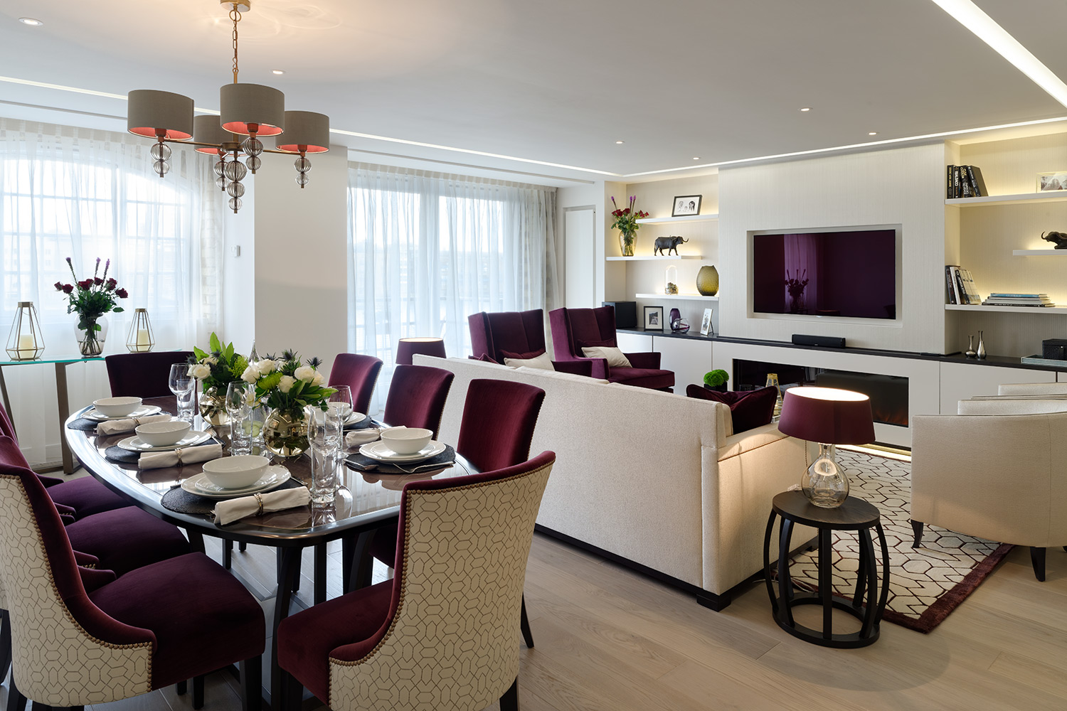 A chic london entertaining apartment by maisha design