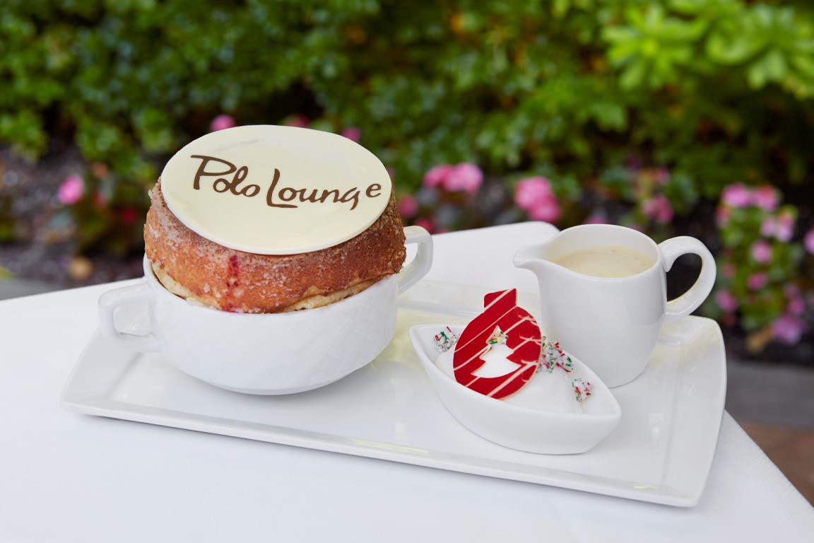 Candy Cane Souffle - Image courtesy of the Dorchester Collection