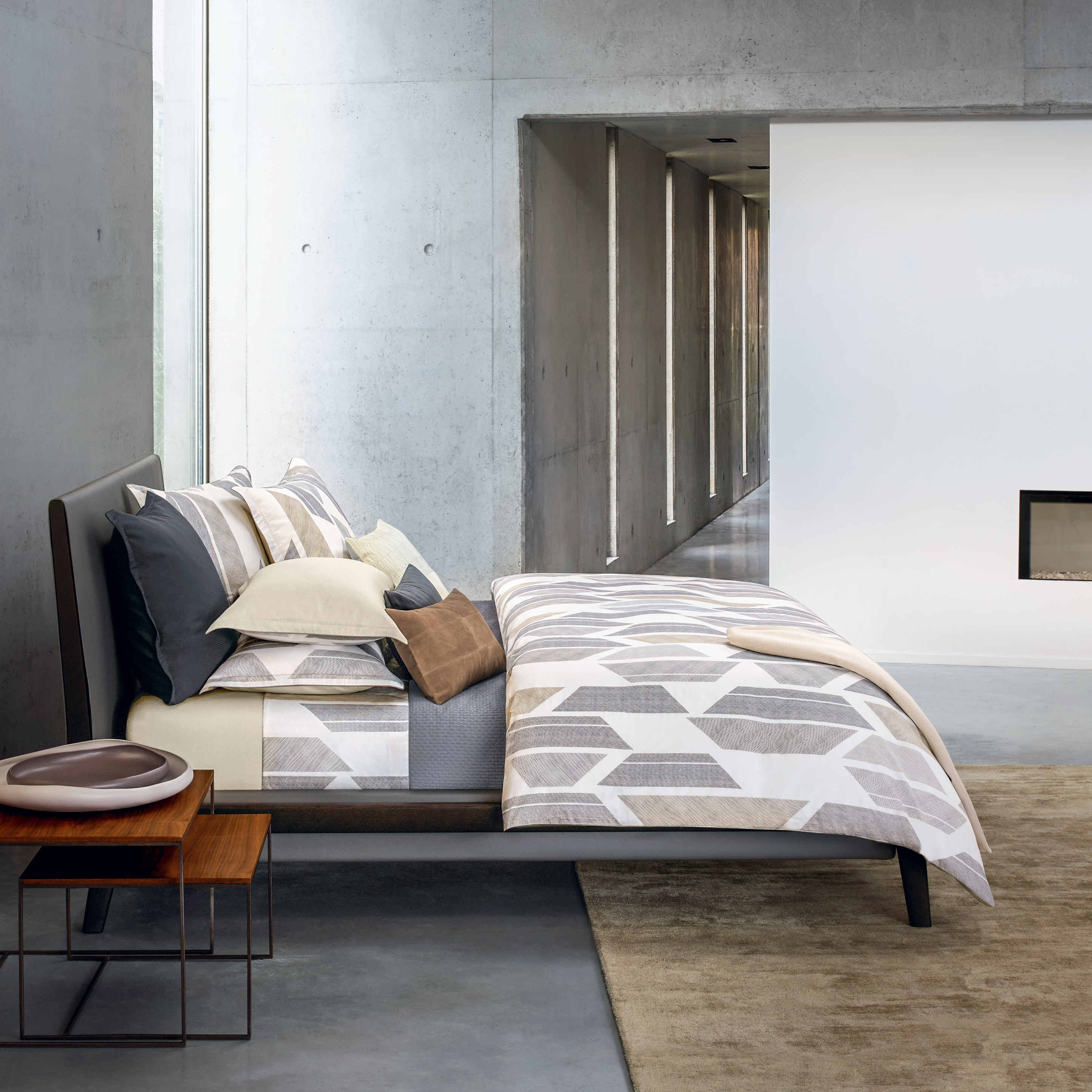 concrete interior trend for 2017 the luxpad. Black Bedroom Furniture Sets. Home Design Ideas