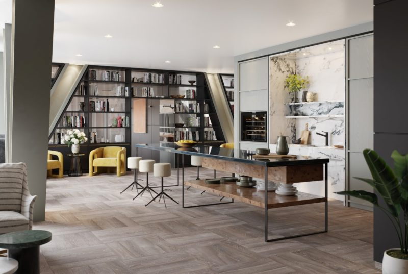 One Crown Place London Launches with Interior Design by Studio Ashby