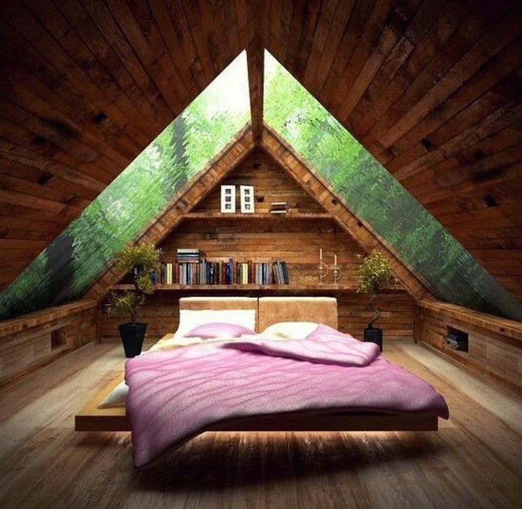 how to close off a loft bedroom