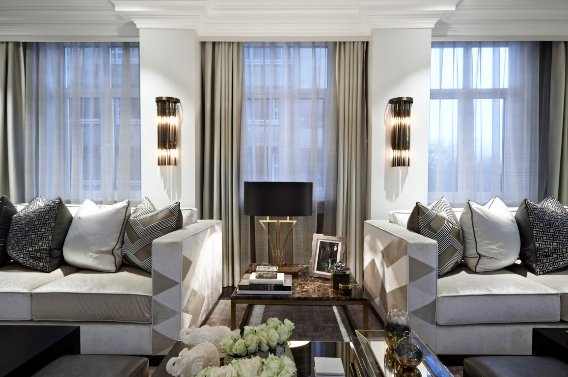 Inside fountain house the mayfair apartment by boscolo for Apartment design london