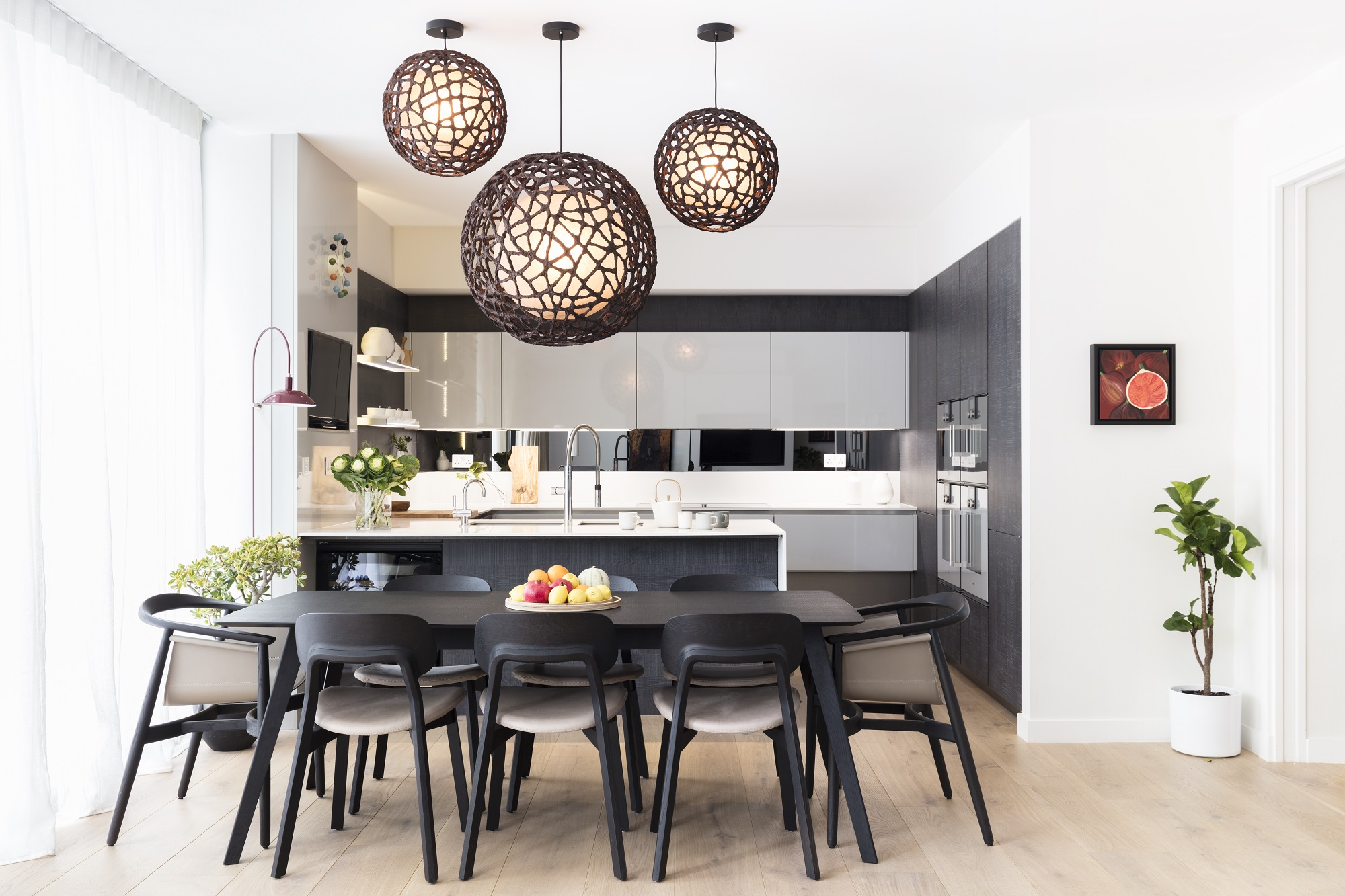 Black And Milk Dining Room Decor