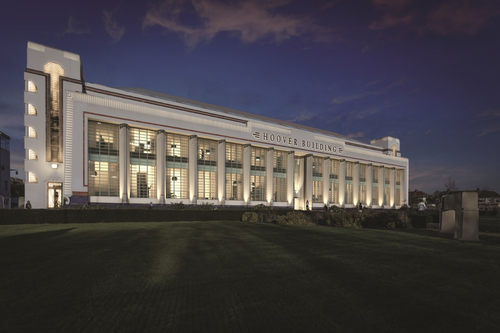 London s art deco hoover building transformed into luxury for Luxury barn builders