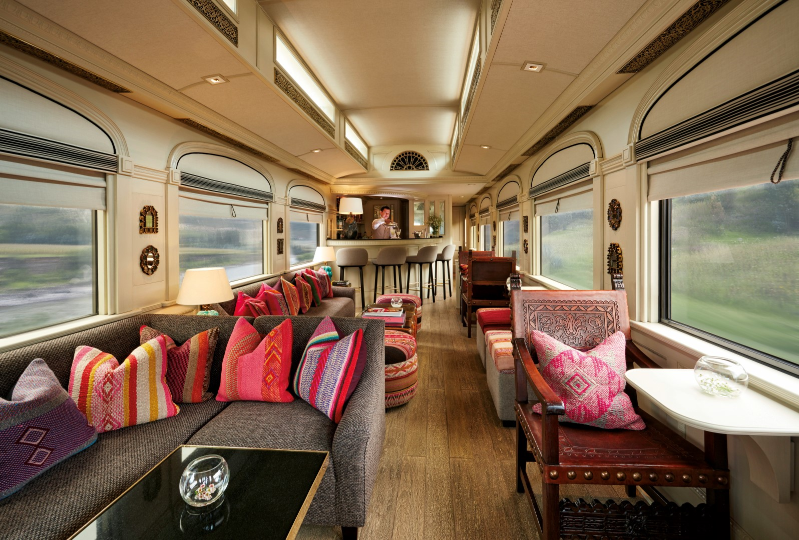 peruvian design details on the belmond andean explorer sleeper train. Black Bedroom Furniture Sets. Home Design Ideas