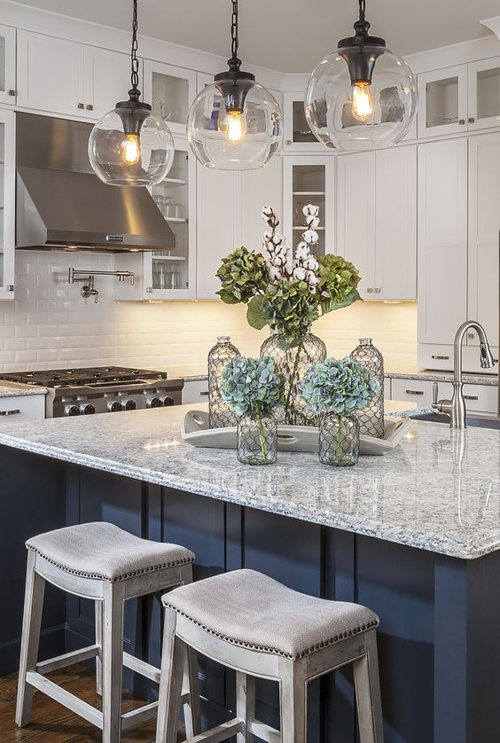 Kitchen Lighting Ideas Over Island - Unique pendant lights for kitchen island
