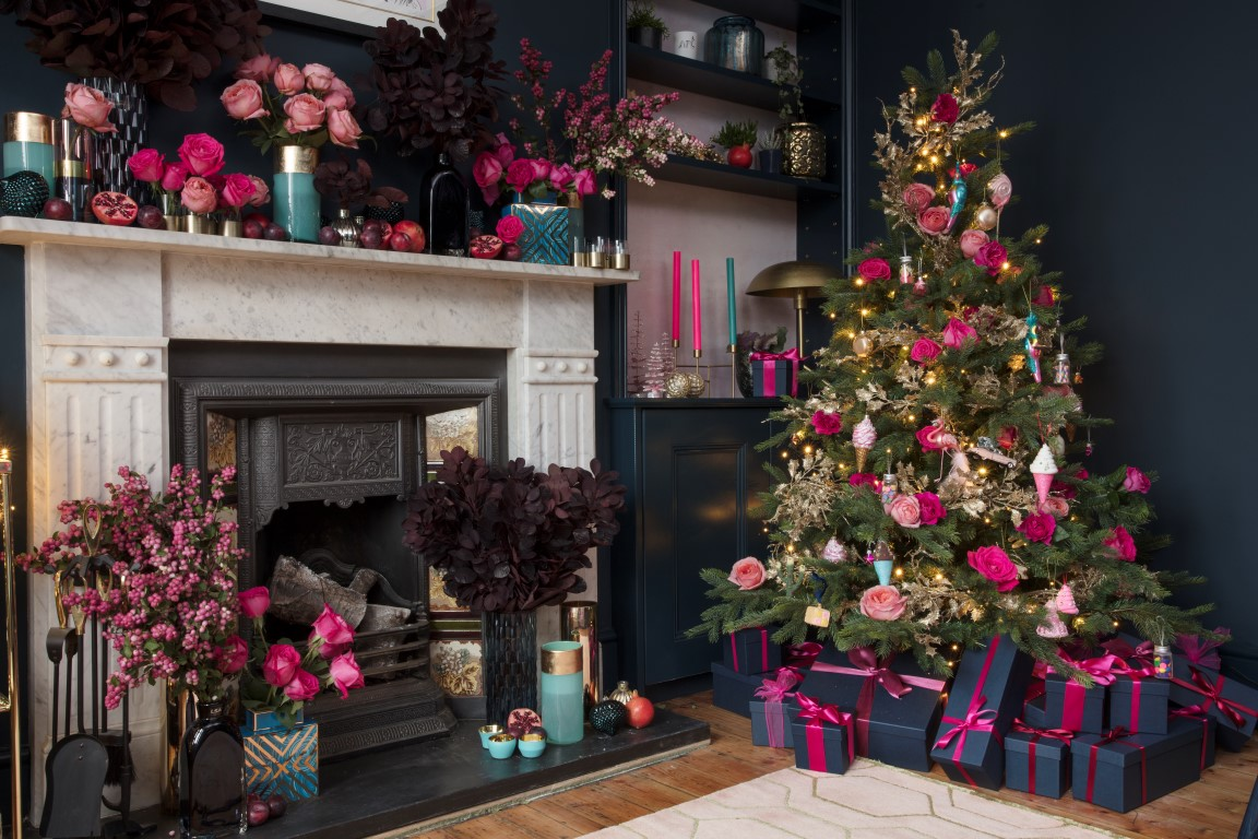 image courtesy of the pink house photograph by susie lowe wwwsusielowecouk - Decorating Your House For Christmas