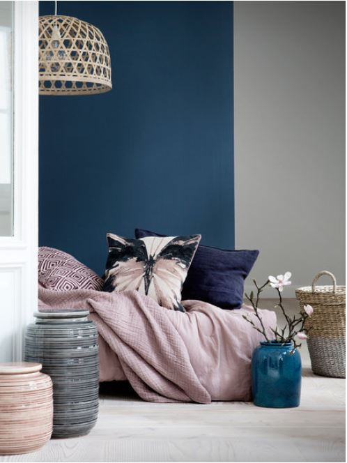 Dark Blue Dusky Pink And Gray Jo Chrobak Bedroom Colour Scheme Ideas