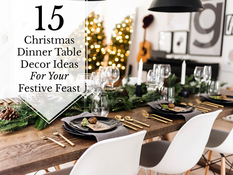 Christmas dining room table decoration ideas