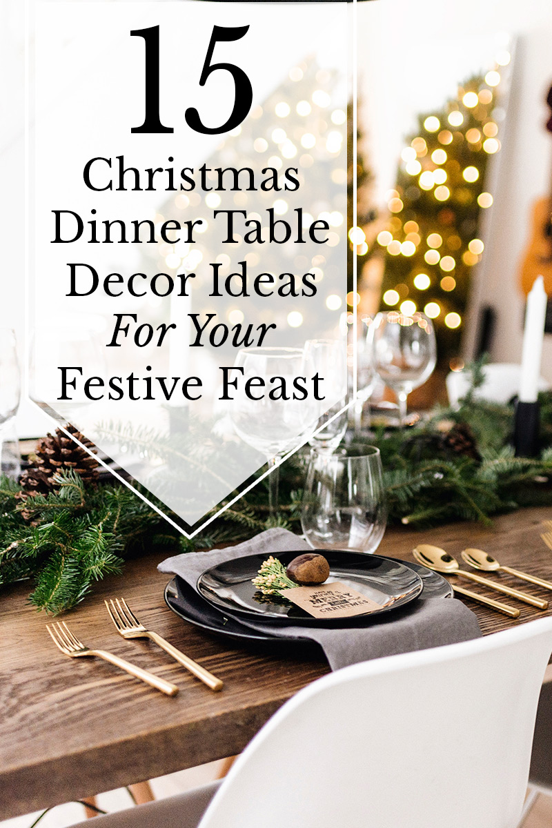 Admirable 15 Christmas Dinner Table Decoration Ideas For Your Festive Home Interior And Landscaping Eliaenasavecom