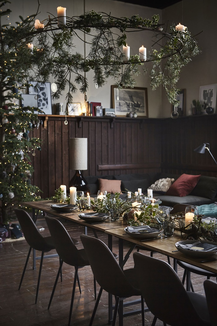 15 christmas dinner table decoration ideas for your. Black Bedroom Furniture Sets. Home Design Ideas