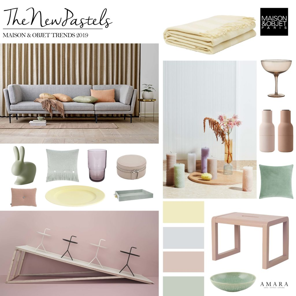 Best loved designers throughout maison objet have embraced a fresh take on pastels which favours muted tones over pretty pinks