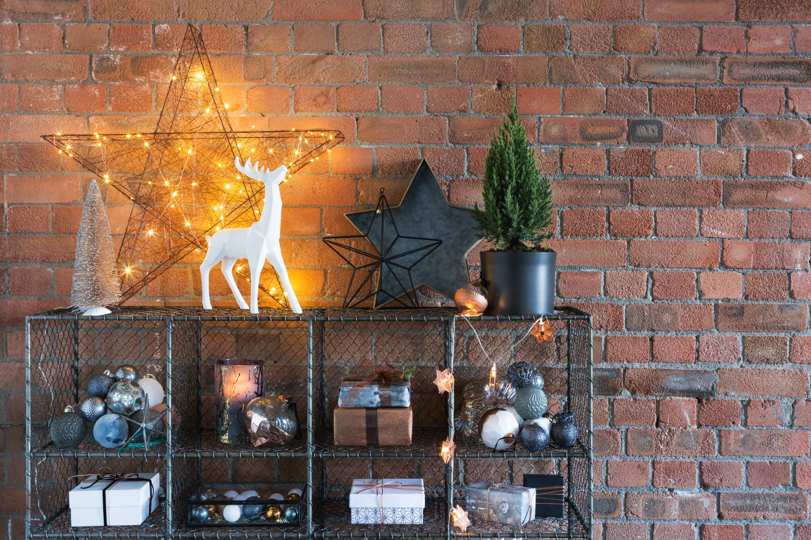 Industrial Christmas decorations