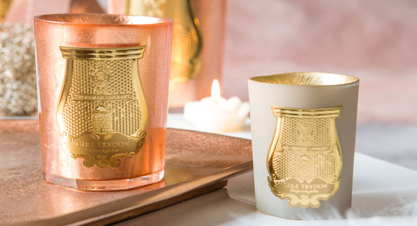 luxury candles on table