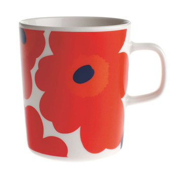 Oiva/Unikko Mug - Small - White/Red